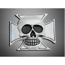 'Skull Maltese' chromé