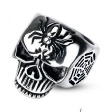 Bague skull and spider