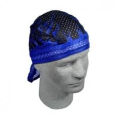 Bandana 'mesh' noir/bleu
