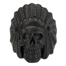 Bague Indian noir Mat