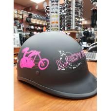 Polo 'lady rider' noir mat rose